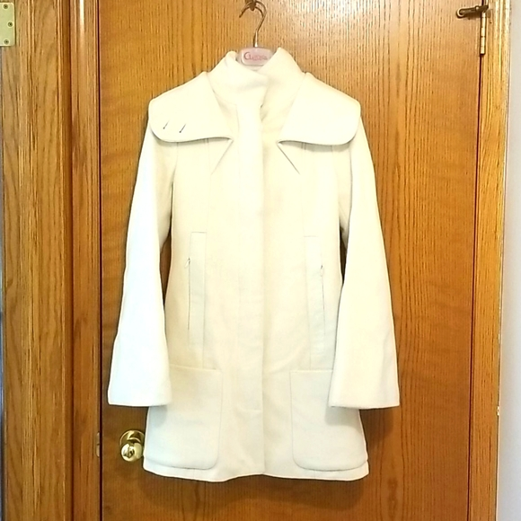 Mackage cream wool and cashmere coat